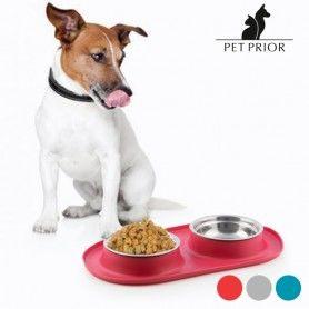 Comedero-Bebedero para Animales Antideslizante Pet Prior