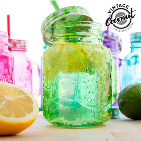 Vintage Coconut Coloured Jar