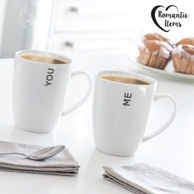 You & Me Romantic Items Mugs (Set of 2)
