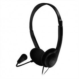 Headphones with Microphone 1LIFE 1IFEHSSNDONE (3.5 mm) Black
