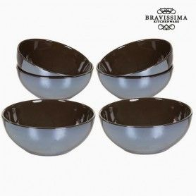 Set of bowls China crockery Brown (6 pcs) - Kitchen's Deco Collection by Bravissima Kitchen