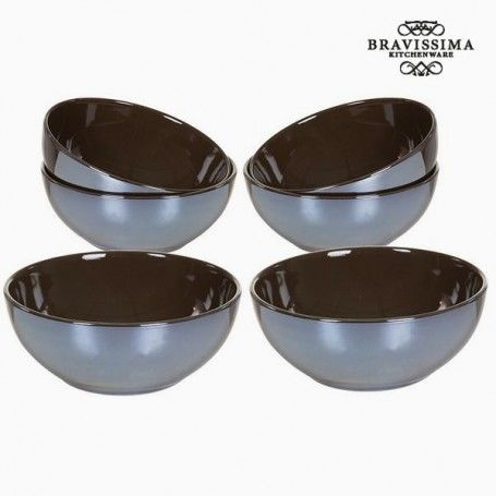 Set of bowls China crockery Brown (6 pcs) - Kitchen's Deco Collection by Bravissima Kitchen