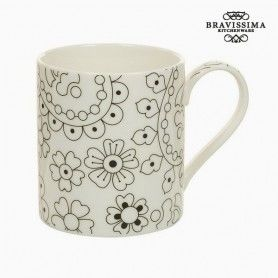 Cup Porcelain Black Beige - Kitchen's Deco Collection