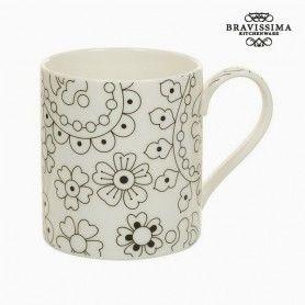 Taza Porcelana Negro Beige - Colección Kitchen's Deco