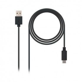USB A to USB C Cable NANOCABLE 10.01.210 Black