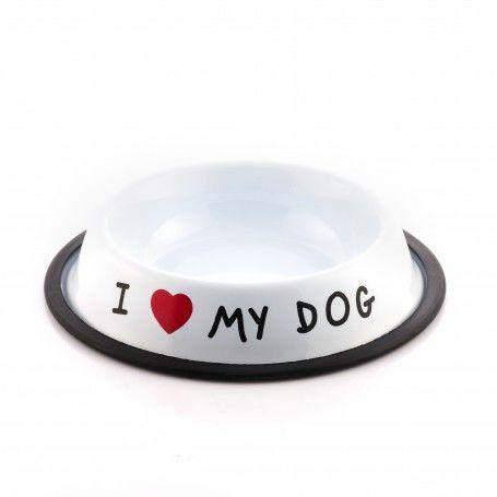 Pet feeding dish I Love My Dog
