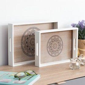 Set of trays Mandala 2 Pieces
