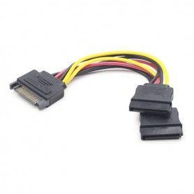 Cable Alimentación SATA GEMBIRD CC-SATAM2F-01 (15 cm)