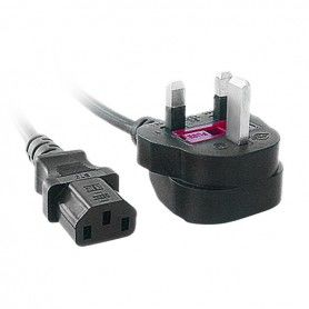 C13 (UK) Power Cord iggual IGG311141 1,8 m Black