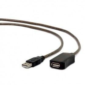 Cable Alargador iggual IGG309575 USB 2.0 5 m Negro