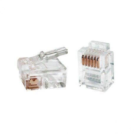 Conector RJ11 iggual IGG311387 100 pcs