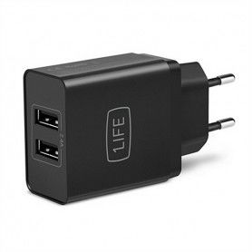 Wall Charger 1LIFE 1IFEPA2USB USB Black