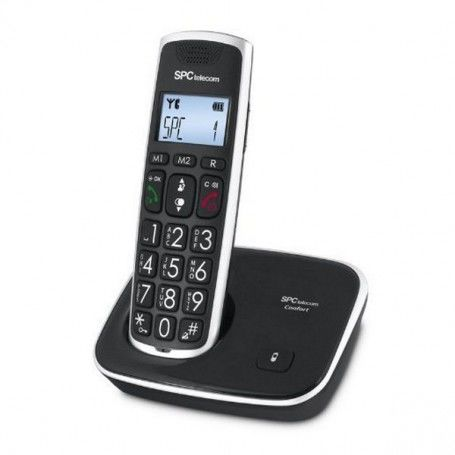 SPC 7608N Phone DECT Big keys AG20 ID LCD ECO Black