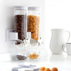 Wall Mounted Double Cereal Dispensor