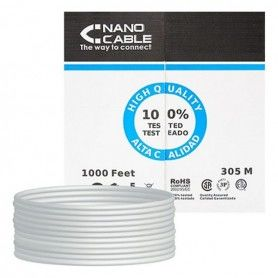 Cable de Red NANOCABLE 10.20.1704-FLEX Cat.5e UTP (305 m) Gris