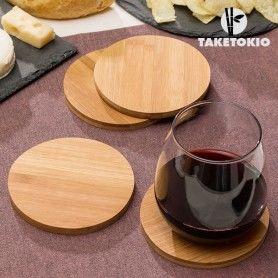 TakeTokio Set of Bamboo Coasters (pack of 4)