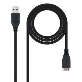 USB 3.0 A to Micro USB B Cable NANOCABLE 10.01.110-BK Black
