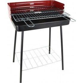 Barbecue à Charbon sur Pied Algon Noir Rouge (52 X 37 x 71,5 cm)