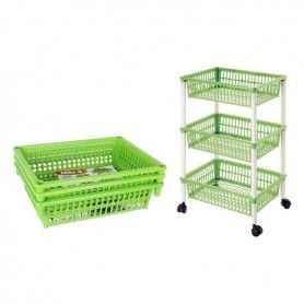 Vegetable trolley Tontarelli Detachable Plastic 3 Drawers (40 X 29 x 62 cm)