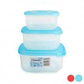 Set of 3 lunch boxes Tontarelli (1 - 1,5 - 2,5 L)