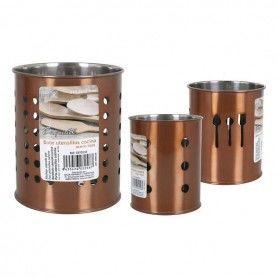 Pot pour ustensiles de cuisine Exquisite Acier inoxydable
