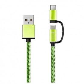 Cable USB para iPad/iPhone Ref. 101110 Verde