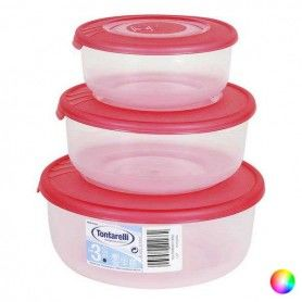 Set of 3 lunch boxes Tontarelli (0,5 - 1 - 2 L)