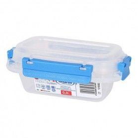 Boîte à lunch hermétique Fresh System Tontarelli 0,3 L Plastique Transparent (9,5 x 14 x 5,7 cm)