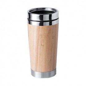 Verre avec Couvercle (500 ml) Bambou 146170