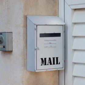 Buzón Metálico Blanco Mail