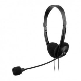 Headphones with Microphone Tacens AH118 Black