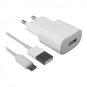 Wall Charger + MFI Certified Lightning Cable 2.1A White