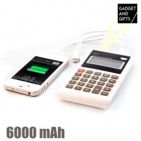 Calculatrice-Chargeur de Batterie USB 6000 mAh
