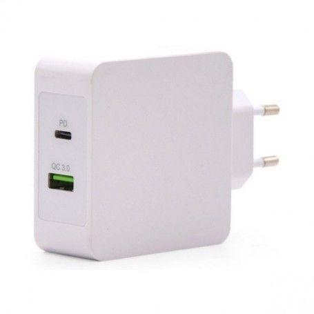 USB  Wall Charger TooQ TQWC-2SC03WT