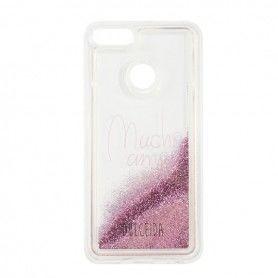 Case Xiaomi Redmi Note 4 Dulceida DLCAR013 Transparent Glitter Pink