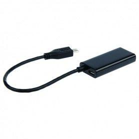 Micro USB to HDMI Adapter GEMBIRD A-MHL-003 HD Black