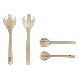 Ensemble de Couverts Kitchen Tropic Bambou (2 Uds)