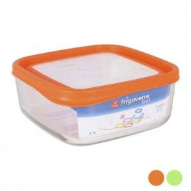 Square Lunch Box with Lid Bormioli (18 x 19 x 8 cm)