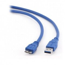 USB 3.0 A to Micro USB B Cable GEMBIRD CCP-mUSB3-AMBM-6 600 Mbps (1,8 m) Blue