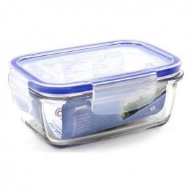 Hermetic Lunch Box Borgonovo Rectangular Transparent (14,5 x 10 x 6 cm)