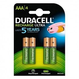Rechargeable Batteries DURACELL DURDLLR03P4B HR03 AAA 800 mAh (4 pcs)