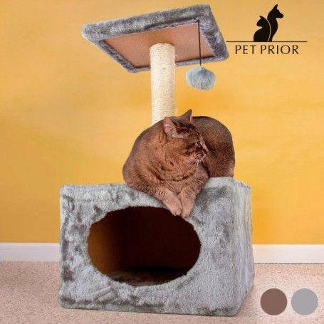 Rascador para Gatos con Casita Pet Prior