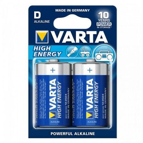Alkaline Battery Varta LR20 D 1,5 V 16500 mAh High Energy (2 pcs) Blue