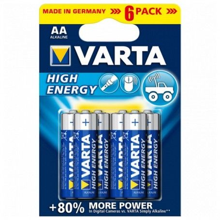 Alkaline Battery Varta 4906 AA 1,5 V AA High Energy (6 pcs) Blue