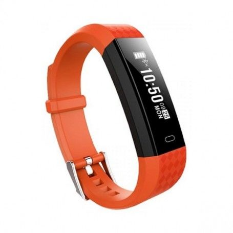 "Pulsera de Actividad BRIGMTON BSPORT B1 0,87"" OLED Bluetooth 4.0 IP67 Naranja"