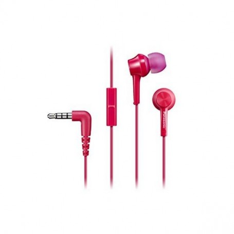 Headphones with Microphone Panasonic RP-TCM105E in-ear Pink
