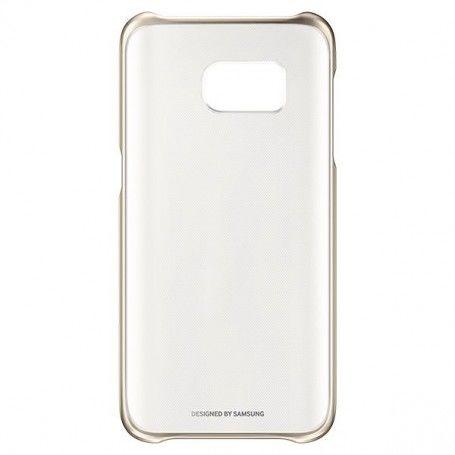 """Funda para Móvil Samsung Clear Cover EF-QG935 5.1"""" Dorado"""
