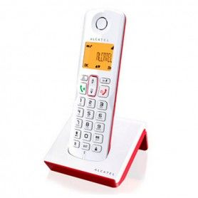 Wireless Phone Alcatel S-250 DECT SMS LED White Red