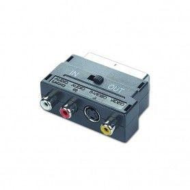 SCART to RCA / S-Video Bidirectional Adapter GEMBIRD CCV-4415 Black