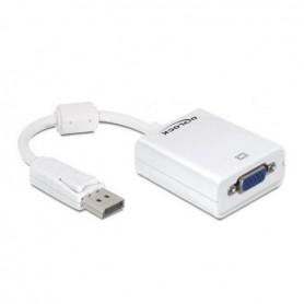 Adaptateur DisplayPort vers VGA DELOCK 61766 12,5 cm